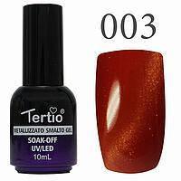 Гель-лак №003 CAT EYES (оранжево-червоний магнітний) 10 мл Tertio