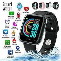 Smart Bracelet D20 - смарт-часы многофункциональные   фитнес браслет Y68 черные