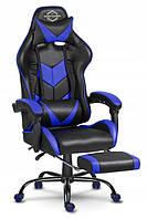 Компьютерное игровое Геймерское Кресло Sofotel Cerber с подножкой Черно-синие