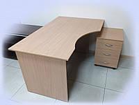 Стол офисный угловой с тумбой «Лайт»