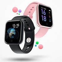 Фитнес браслет т80 Умные часы Smart band черные