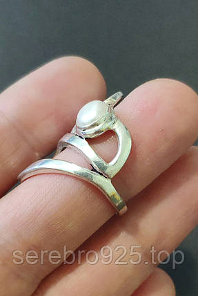 Кільце з перлами у сріблі 17 р., фото 2