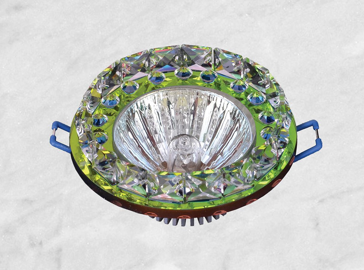 Точечный стеклянный врезной светильник (16-221 мультиколор)
