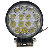 Додаткова світлодіодна фара точкового (дальнього) світла 42W/30 кругла 10-30V