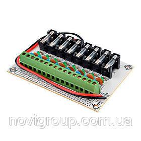 8-канальний модуль захисту живлення  з запобіжниками JHGT-8LA