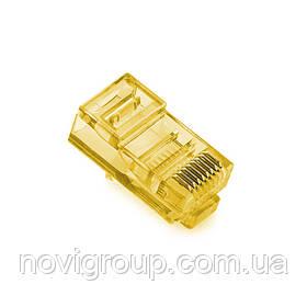 Конектор Noname RJ-45 8P8C UTP Cat-5 (100 шт / уп.) Q100 Yellow