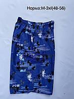 Шорты мужские летние с карманом Пальмы размер норма 48-56, цвет уточняйте при заказе, фото 1