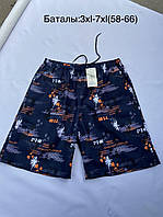 Шорты мужские летние Пальмы размеры батальные 58-66, цвет уточняйте при заказе, фото 1