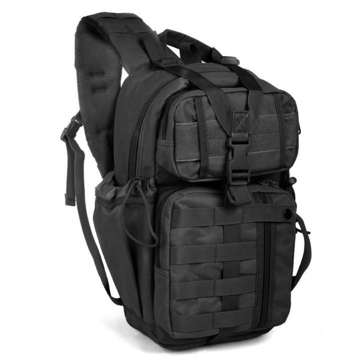 Рюкзак тактичний однолямочный Tactical Pro 20 л колір чорний