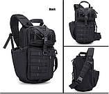 Рюкзак тактичний однолямочный Tactical Pro 20 л колір чорний, фото 3