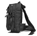 Рюкзак тактичний однолямочный Tactical Pro 20 л колір чорний, фото 4