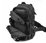 Рюкзак тактичний однолямочный Tactical Pro 20 л колір чорний, фото 5