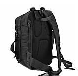 Рюкзак тактичний однолямочный Tactical Pro 20 л колір чорний, фото 7