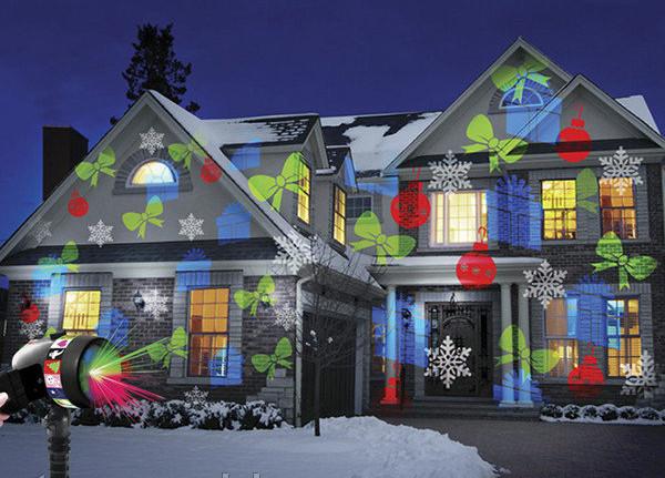 Проектор Star Shower projection outdoor light 12 слайдів