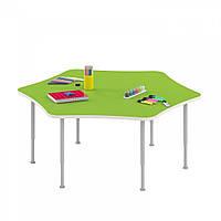 Стол игровой Ромашка для настольных игр и рисования на регулируемых ножках для детсадов 115х102х42/58см 63796
