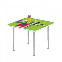 Стол игровой Квадрат для настольных игр и рисования на регулируемых ножках для детсадов 62х62х42/58см 63797
