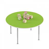 Стол детский круглый на регулируемых ножках для рисования - настольных игр для детских садов 90х90х42/58см