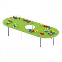 Стол для настольных игр - рисования на регулируемых ножках с отверстием для детских садов 130х102х42/58см