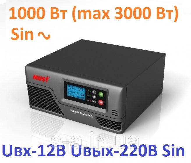 Інвертор MUST EP20-1000 PRO 1000W/12V з правильною синусоїдою