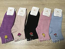Шкарпетки жіночі, короткі кольорові шкарпетки