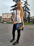 Джинсова сумка з вишивкою Карта України 3, фото 6