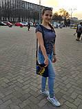 Джинсова сумка з вишивкою Карта України 3, фото 5