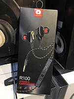 Наушники WUW R100 Stereo Earphones с гарнитурой 3.5mm Jack (черные)