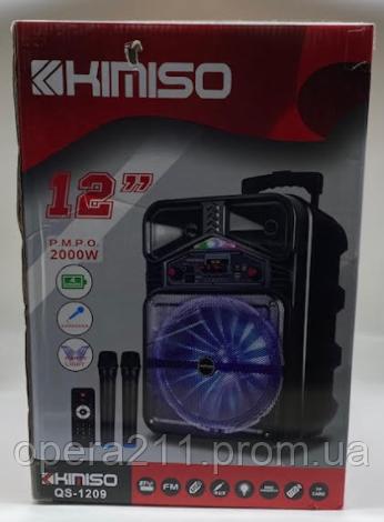 Колонка KIMISO QS-1209 BT (12'BASS / 2000W) (1шт)