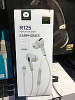 Навушники WUW Model R125 з гарнітурою Lightning (білі)