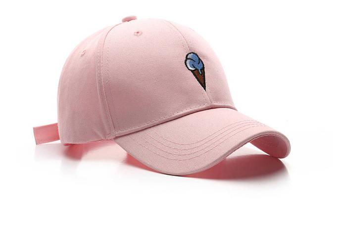 Кепка Бейсболка Чоловіча Жіноча City-A з Морозивом Рожева, фото 2