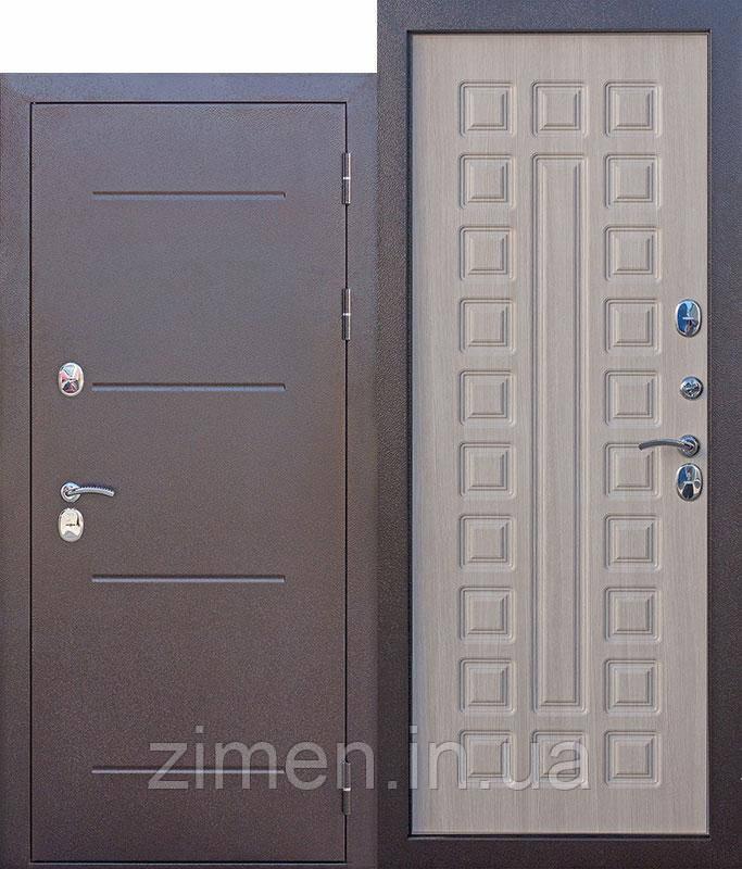 Вхідні двері c ТЕР 11 см Isoterma мідний антик Модрина мокко