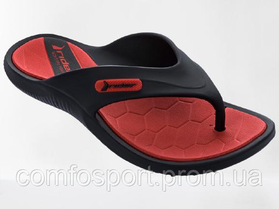 Мужские вьетнамки шлепанцы Rider Cape  83058 чёрно-красные  оригинал Бразилия