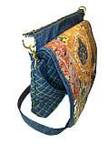 Жіноча джинсова сумочка Сонце, фото 2