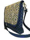 Жіноча джинсова сумочка Сонце, фото 3