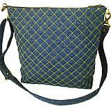 Жіноча джинсова сумочка Сонце, фото 6