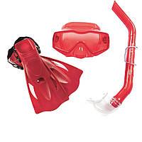 Набор 3 в 1 для ныряния Bestway 25031 (маска: размер XL, (10+), обхват головы ≈ 56 см, трубка, ласты: размер