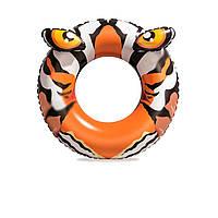 Надувний круг з твариною Bestway 36122 «Тигр», 91 см, тигр