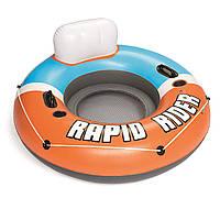 Надувной круг Bestway 43116 «Rapid Rider»,  серия «Sports», 135 см, оранжевый
