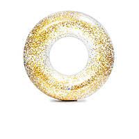 Надувной круг Intex 56274 «Золотой блеск», 119 см, золотой