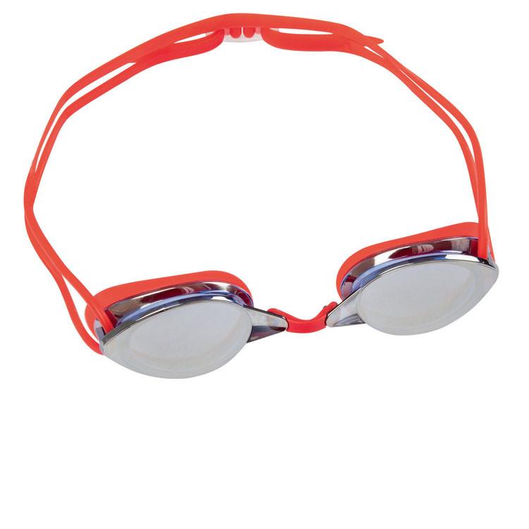 Окуляри для плавання Bestway 21066, розмір XXL, (14+), обхват голови ≈ 59 см, червоні
