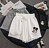 Женские стильные спортивные шорты с рисунком