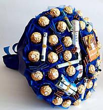 Большой Букет из конфет мужчине Магнат / солидный букет подарок на день рождения юбилей шефу / руководителю