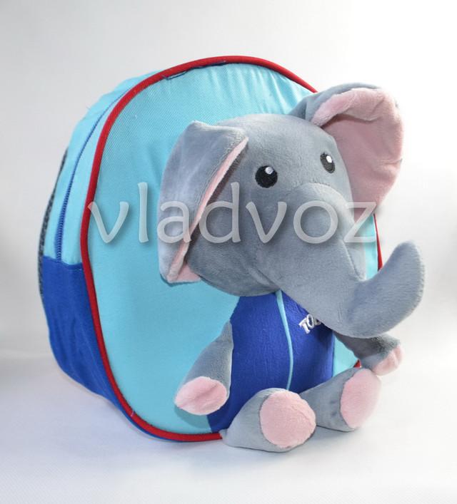 Рюкзак с красивым слоником синего цвета