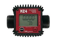 Электронный счетчик К24 для дизельного топлива, бензина, масла, 7-120 л/мин, +/-1%, Италия