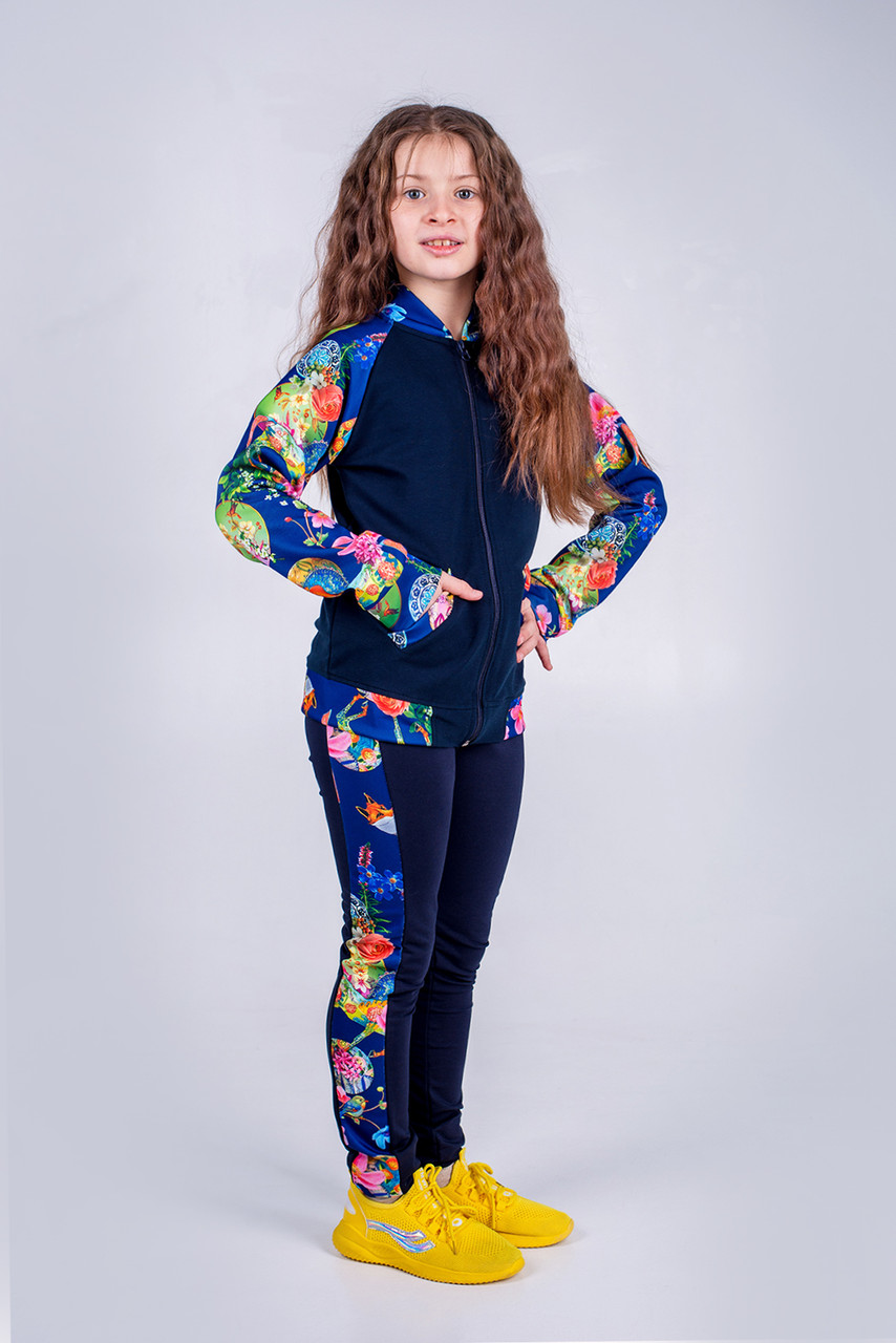 Костюм весняний для дівчинки SmileTime Flora, синій