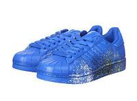 Кроссовки мужские Adidas Superstar Supercolor PW Paint Art Blue