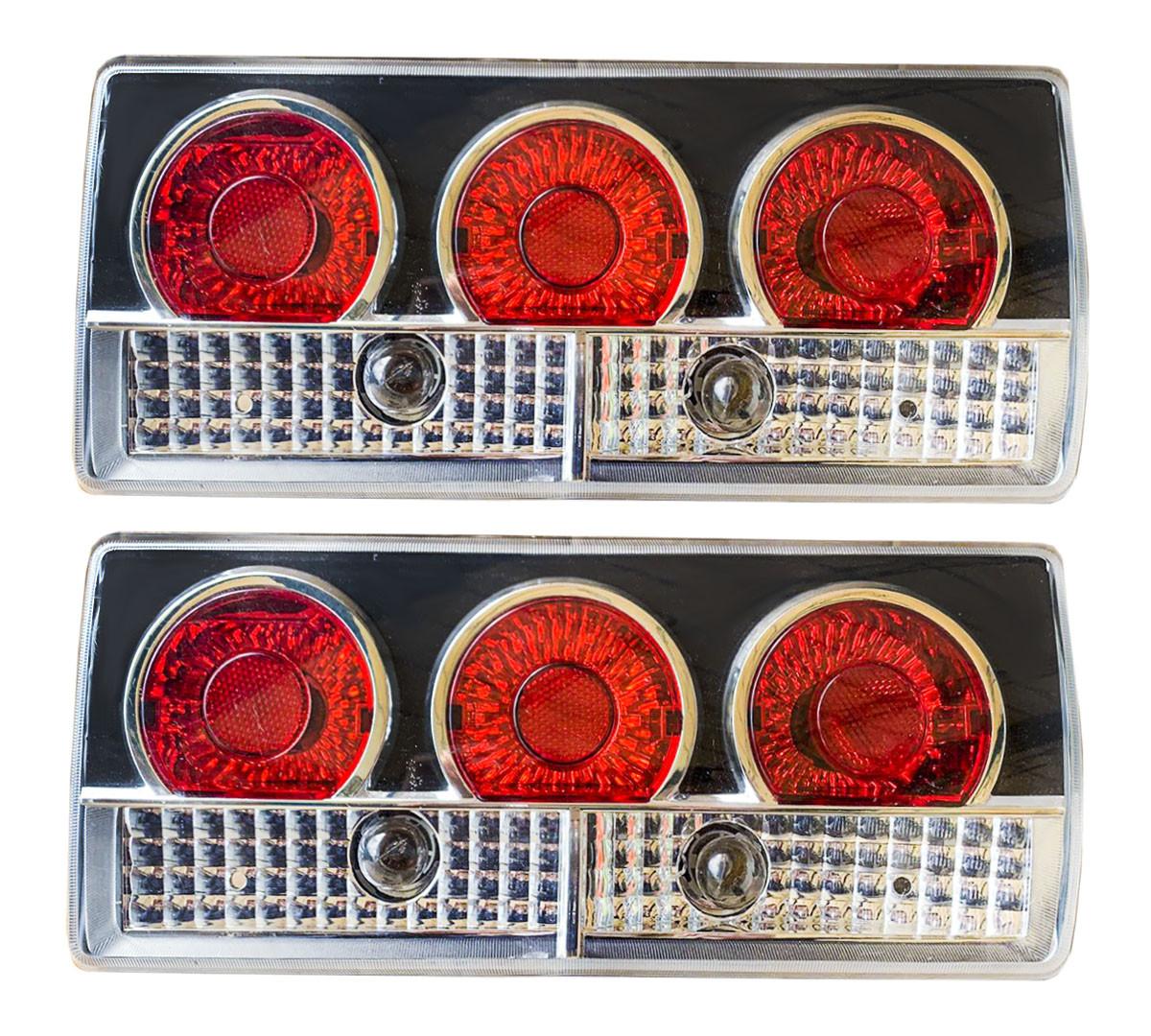 Задние фары на ВАЗ 2105 - 2107 Три круга DIABLO черные! стопы на ваз Цена за комплект!