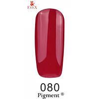 Гель-лак F.O.X. № 80 вишневый, эмаль 6 ml
