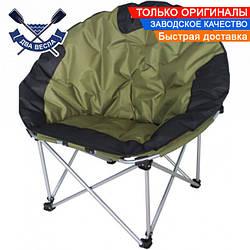 Складное усиленное кресло Ракушка до 130 кг для туризма, сиденье 52х51 см, есть чехол с ремнем