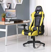 Кресло геймерское NORDHOLD YMIR Yellow с подголовником игровое компьютерное раскладное профессиональное Желтое